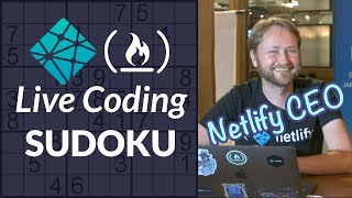 CEO can code? Watch Netlify's CEO code a Sudoku app from scratch in a bar on a Saturday night