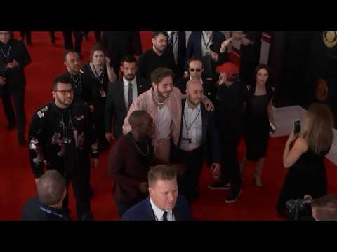Post Malone On The Red Carpet | 2019 GRAMMYs