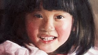 Watercolor Portrait painting of a child from Photo reference
