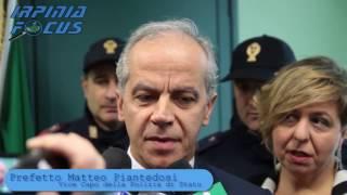 Il Vice Capo della Polizia Mattero Piantedosi all'Ite Amabile di Avellino