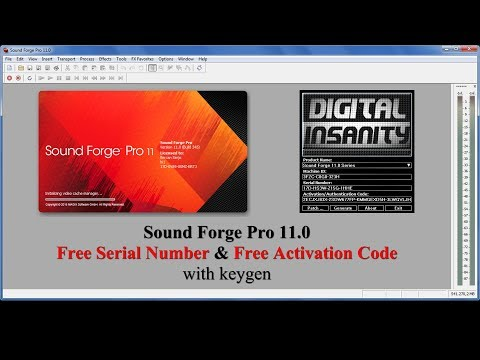 Sound Forge Pro 11.0 Free Serial Number & Free Activation Code with keygen