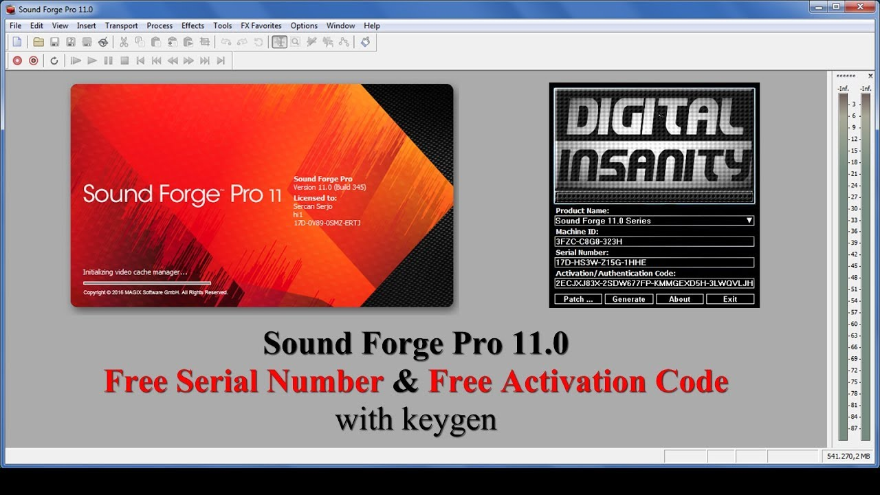 sony vegas pro 11 serial number and activation code free