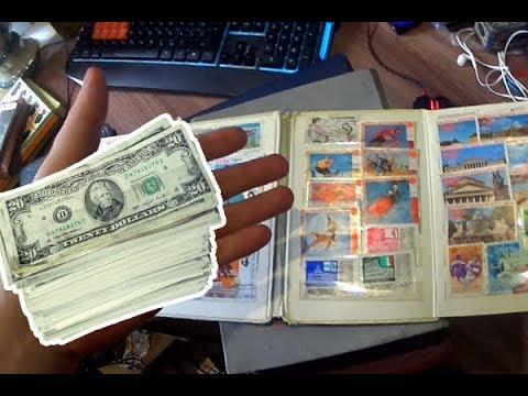 Находки со свалки.  Сколько стоят почтовые марки СССР?