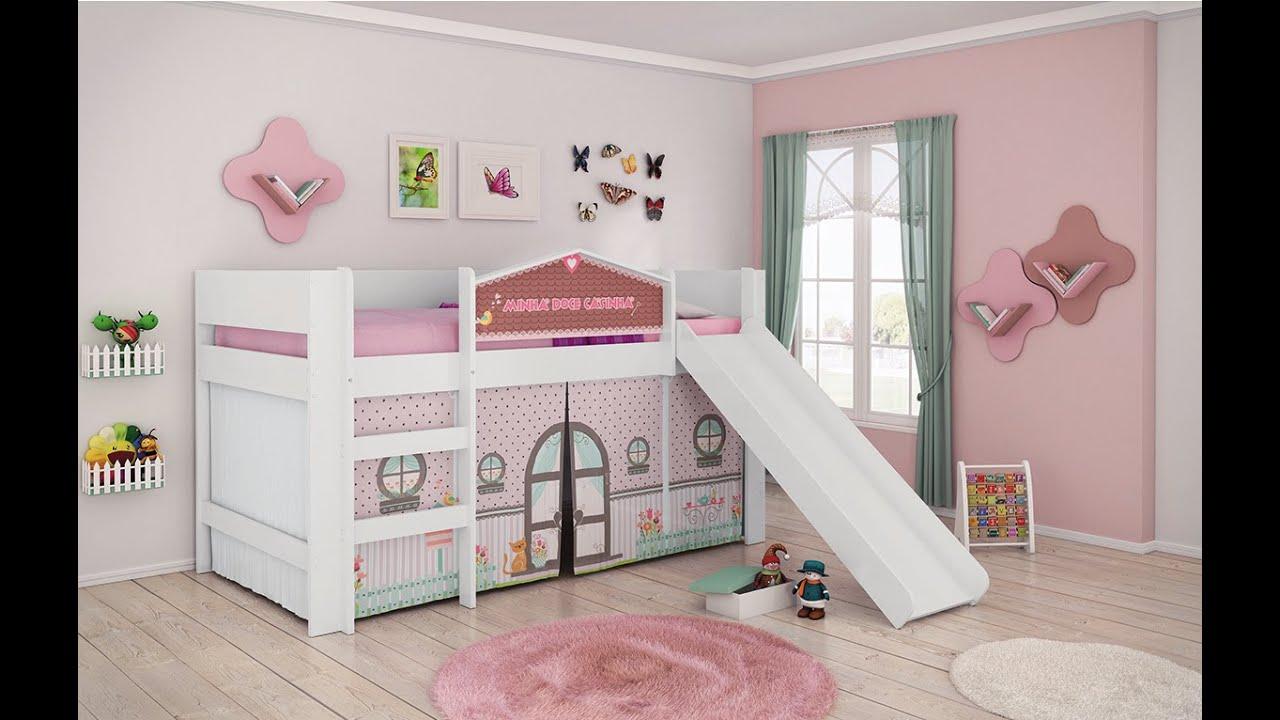 Cama doce casinha play com escorregador youtube - Camas en forma de casa ...