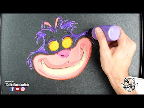 Cheshire Cat Pancake Art