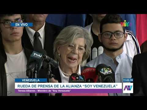 """Rueda de prensa de Alianza """"Soy Venezuela"""""""