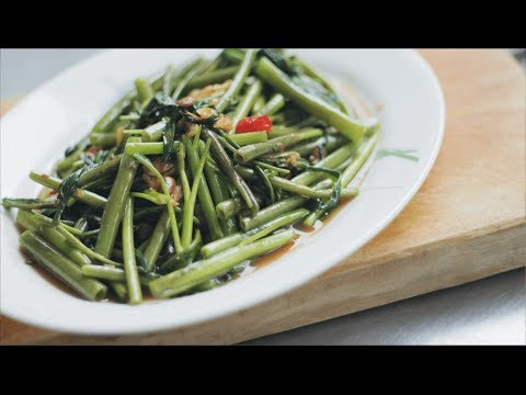 Water Spinach Stir-Fry Recipe ผัดผักบุ้ง – Hot Thai Kitchen!