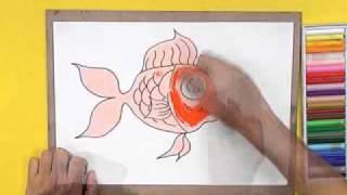 สอนศิลป์ตอนที่71 ถุงผ้าปลาทอง