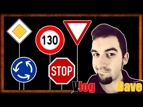 Driving In Germany  | Learn German Road Signs - Speed Limits, Right Of Way, Stop & More! | VlogDave