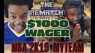 did cashnasty finesse flightreacts the rematch 1000 wager cash vs flight nba 2k19 myteam