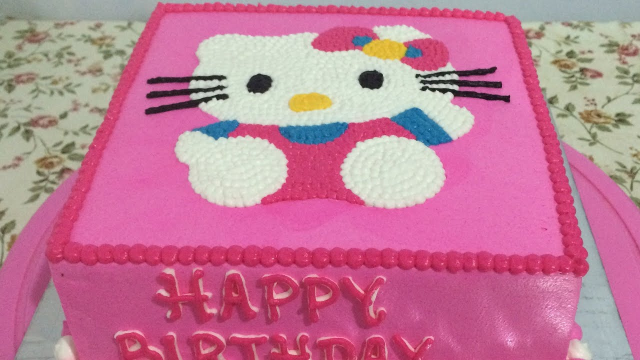 Hello Kitty Cake Easy How To Make Birthday Cake Youtube