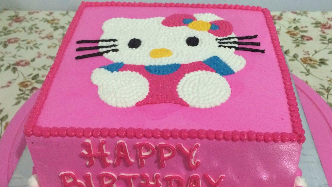 Hello Kitty Cake Easy How To Make Birthday Cake Youtube