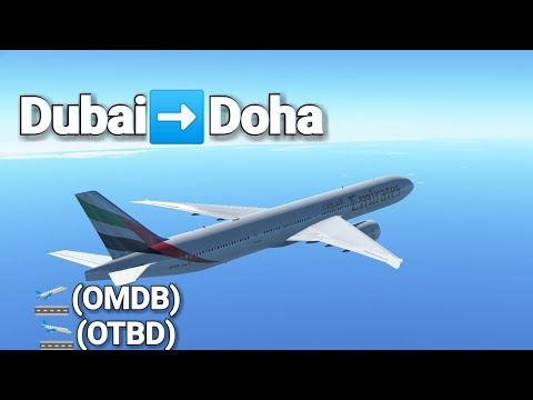 [Infinite Flight] Voando Emirates | B777-300ER | Dubai to Doha (OMDB to OTBD)