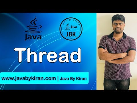Thread Session Part-I-By Kiran Sir-JAVA By Kiran,Pune