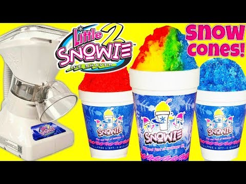 How to Make Snow Cones with Little Snowie 2 Shaved Ice Maker at Home Hawaiian Ice in Seconds!
