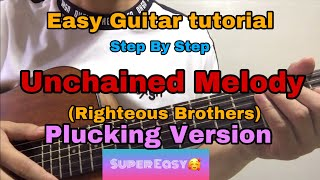 Unchained Melody - Righteous Brothers (Easy Guitar tutorial)