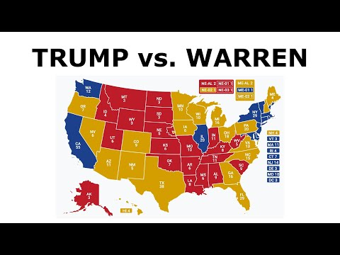 TRUMP vs. WARREN! - 2020 Election Prediction (Oct. 2019)