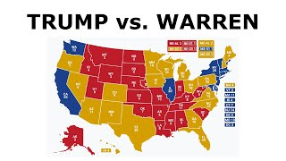 TRUMP vs. WARREN! - 2020 Election Prediction (Oct. 2019)