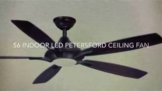 Petersford 56 in integrated LED ceiling fan with remote  google and alexa!
