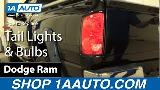 how to install replace tail lights and bulbs 2006 08 dodge ram