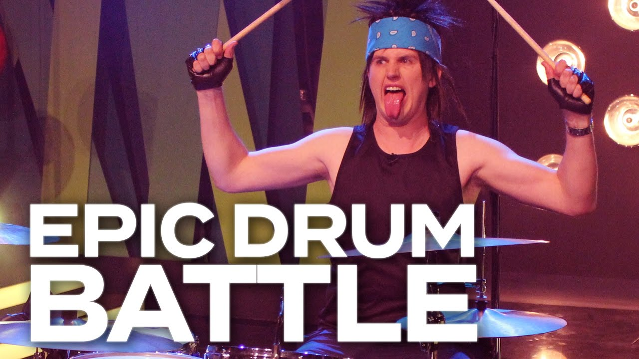 DRUMMING UP A STORM! - Adam & Eve go head to head in an epic drum solo battle!