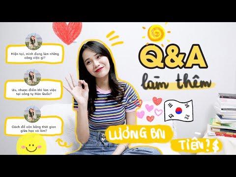 Q&A Du học sinh vừa học vừa làm (Cách tìm việc, lương, sắp xếp thời gian) DU HỌC HÀN QUỐC ♡ Rin Go
