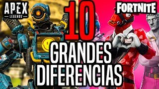 10 GRANDES DIFERENCIAS ENTRE APEX LEGENDS Y FORTNITE | APEX LEGENDS VS FORTNITE BATTLE ROYAL