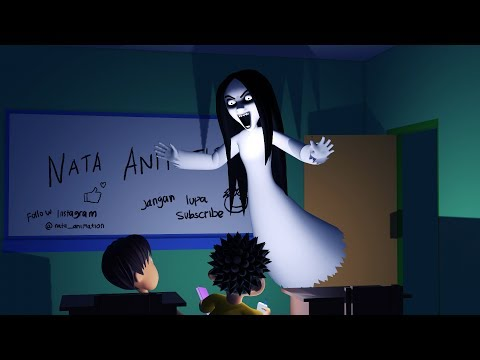 Kartun Horor Lucu - Kuntilanak Penunggu Sekolah