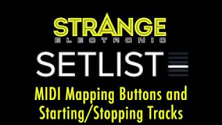 SetList by Strange Electronic: Midi Mapping
