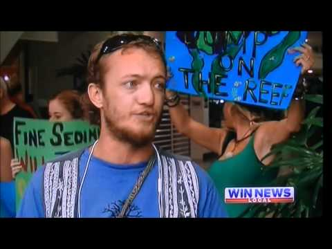 ANTI REEF DREDGING PEACEFUL PROTESTER ASSAULTED IN CAIRNS