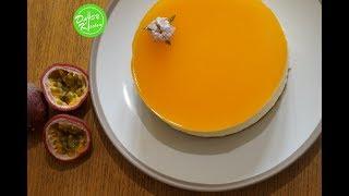 No Baked Passion Fruit Mousse Cake Recipe - Cách làm Bánh Mousse Chanh Dây (không dùng lò nướng)