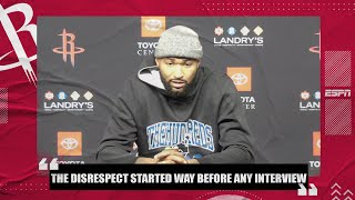 DeMarcus Cousins calls James Harden's comments 'disrespectful' | NBA on ESPN