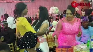 Ayo AdesanyaFathia Balogun Iyabo OjoMide Martins husbandhaving fun at Kemi Afolabis Birthday
