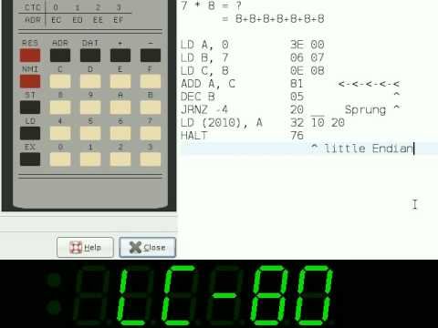 Simple multiplication in Z80/U880 assembly/opcode