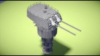 【Minecraft】50口径3年式20cm連装砲E型