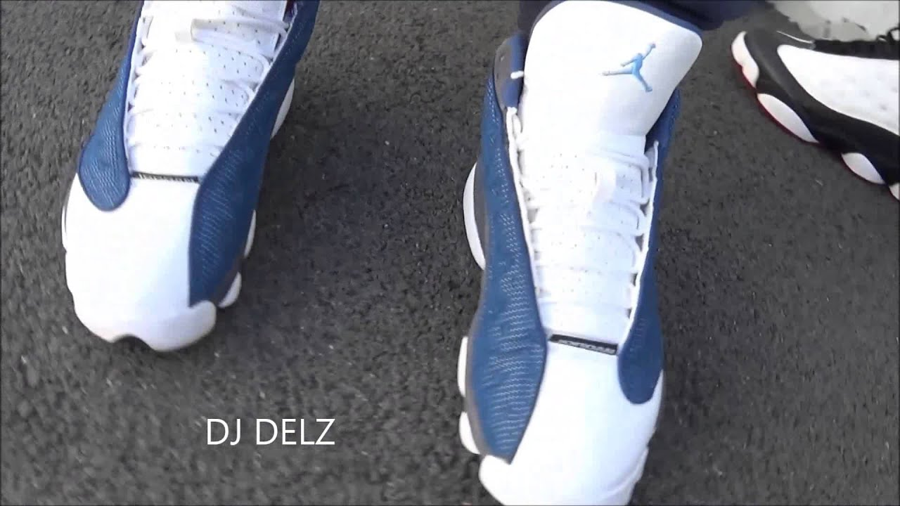 pretty nice 63562 8bacf Air Jordan Flint 13 XIII Sneakers On Feet with  DjDelz