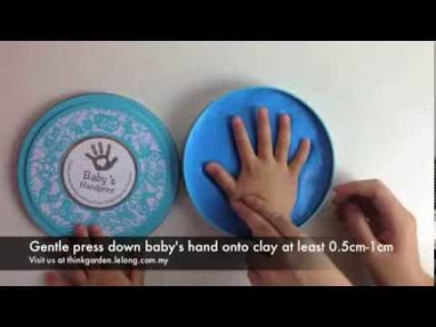 Baby handprint clay kit instruction video by think garden youtube solutioingenieria Choice Image