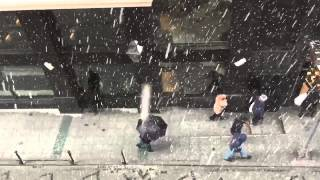 Snow in Istanbul in Slow Motion