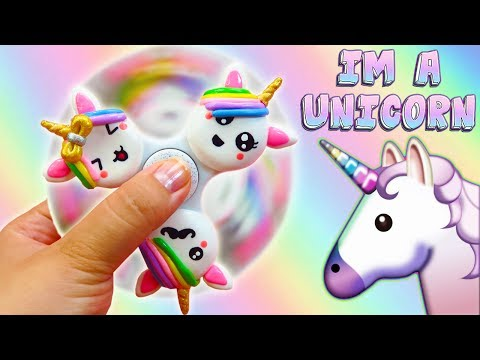 ♥ DIY: Fidget Spinner de Unicornios Kawaii ♥