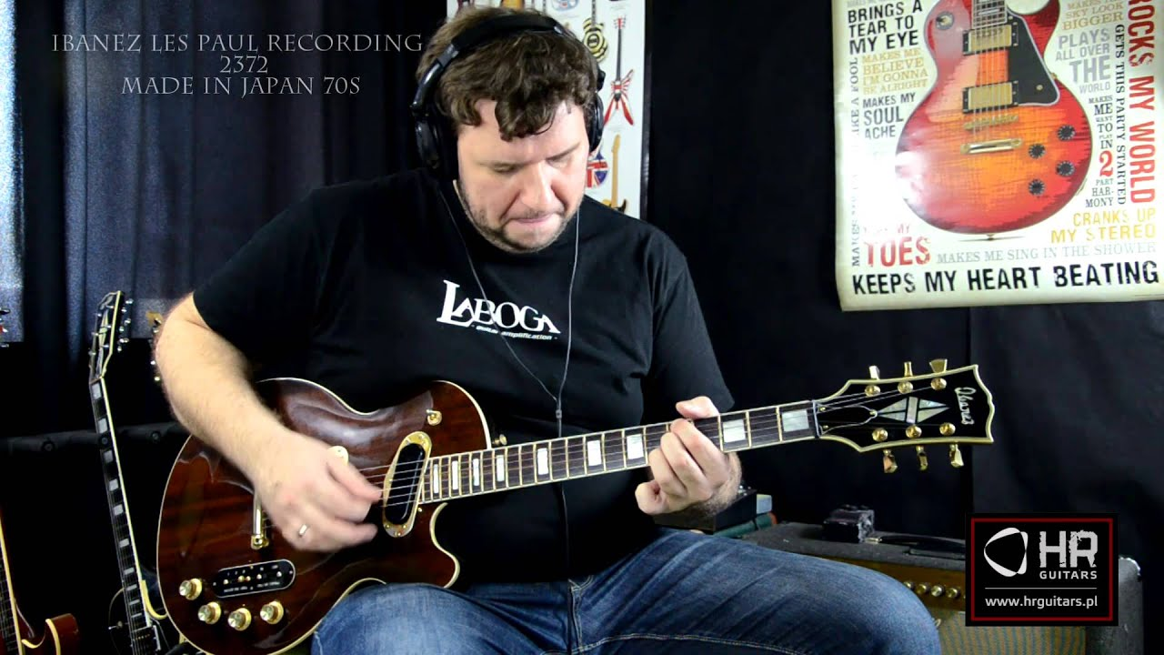 ibanez les paul recording model 2372 japan 70s youtube