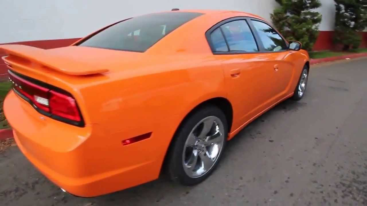 Dodge Charger 2014 Sxt Orange Seattle Bellevue دودج تشارجر