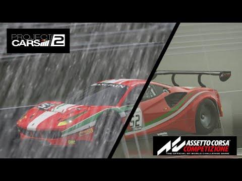 Project Cars 2 VS Assetto Corsa Competizione In The Rain |