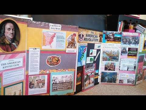 How to Make an American Revolutionary War Mobile Bulletin Board (part 1)