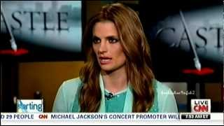 Stana Katic CNN Interview - Smooching &  Working Together April 1 2013