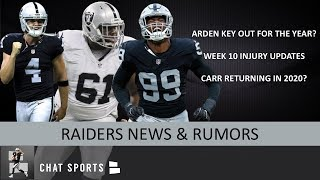 Arden Key Out For Season? Raiders Rumors On Derek Carr, Rodney Hudson, Trent Brown & Daryl Worley