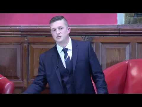 Tommy Robinson Speaks at the Oxford Union.