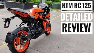 KTM RC 125 ABS DETAILED REVIEW | MILEAGE | TOP SPEED | Good Enough ?