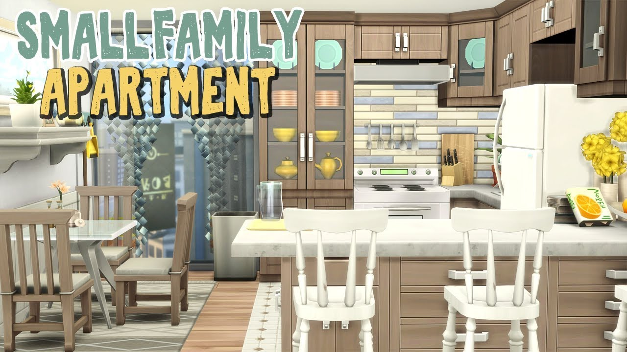 Small Family Apartment The Sims 4 Apartment Renovation Speed