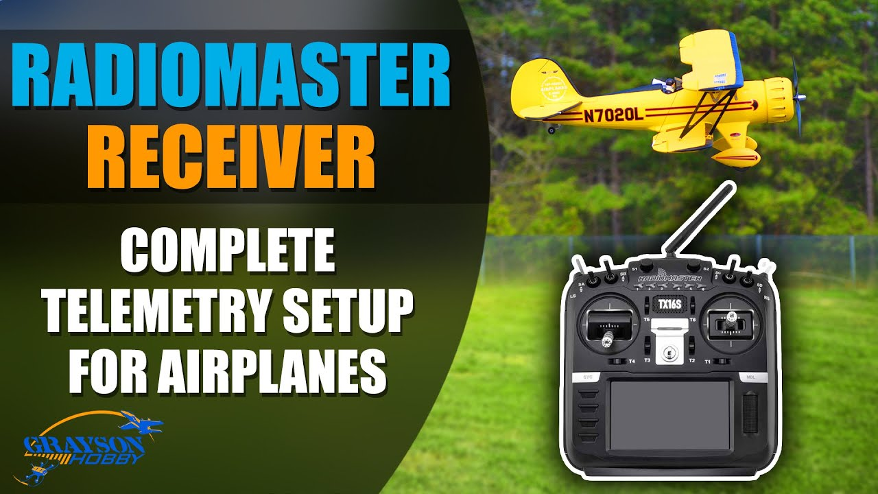 RadioMaster R168 Telemetry Receiver Tutorial with Real Time Battery Voltage