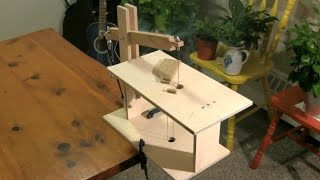 Diy Wooden Scroll Saw (foot Powered)